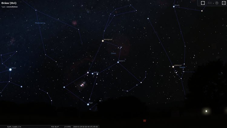 Star Constellations: Orion