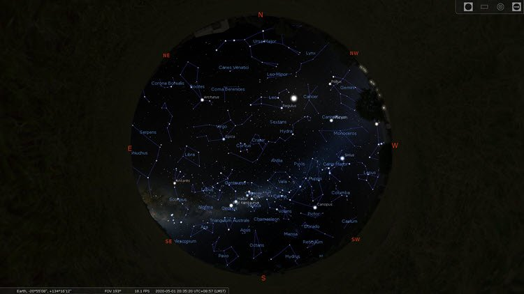 Star Constellations - Southern Hemisphere